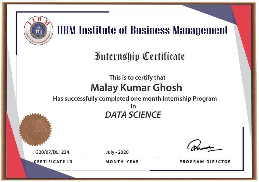 IIBM Data Science Certificate Image